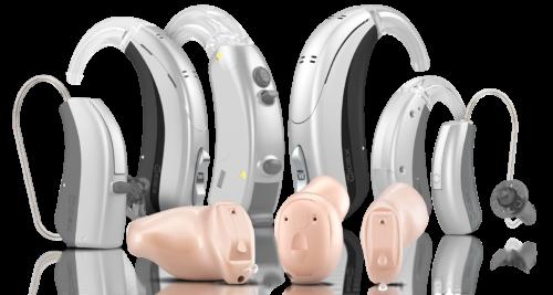 WIDEXの補聴器(耳掛け型、耳あな型)