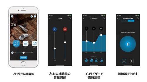 EVOKEアプリでできる操作の一例